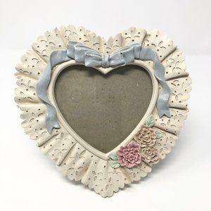 Heart Shape Ceramic Lace Picture Frame Home Decor